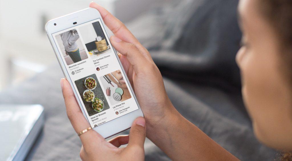 Pinterest en dispositivo móvil